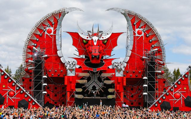 Another amazing stage at the Defqon1 Dance Party festival, Australia - Square One - Stage & Set Hire www.squareone.uk.com