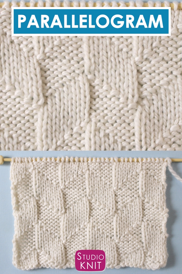 Photo of Parallelogram Stitch Knitting Pattern