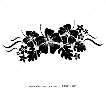 Floral Border Silhouette Vector Image On VectorStock