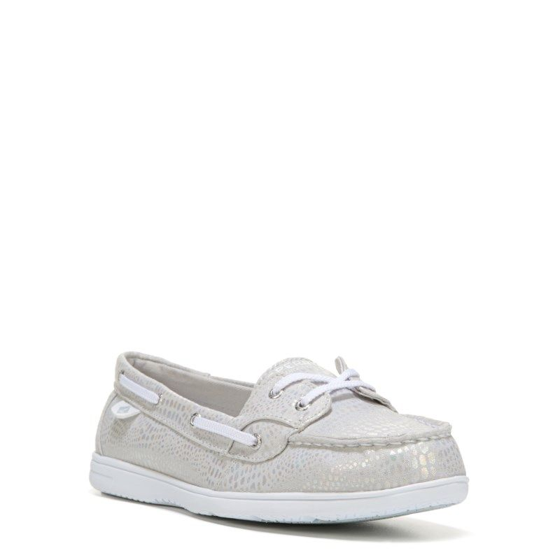 Sperry Top-Sider Kids' Shoresider Boat Shoe Pre/Grade School Shoes (Silver)