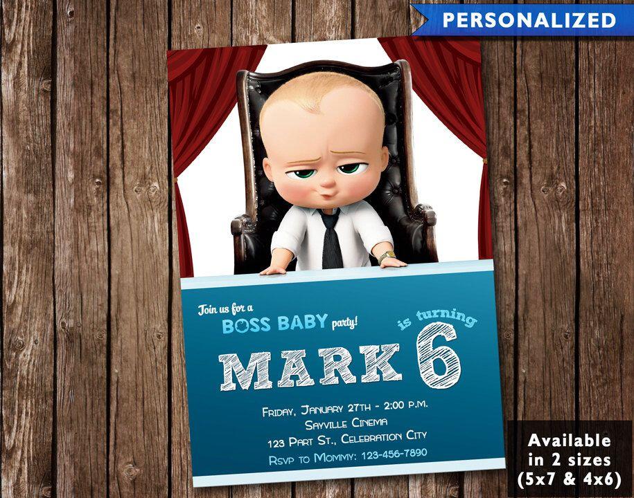 The Boss Baby Movie Birthday Invitation The Boss Baby