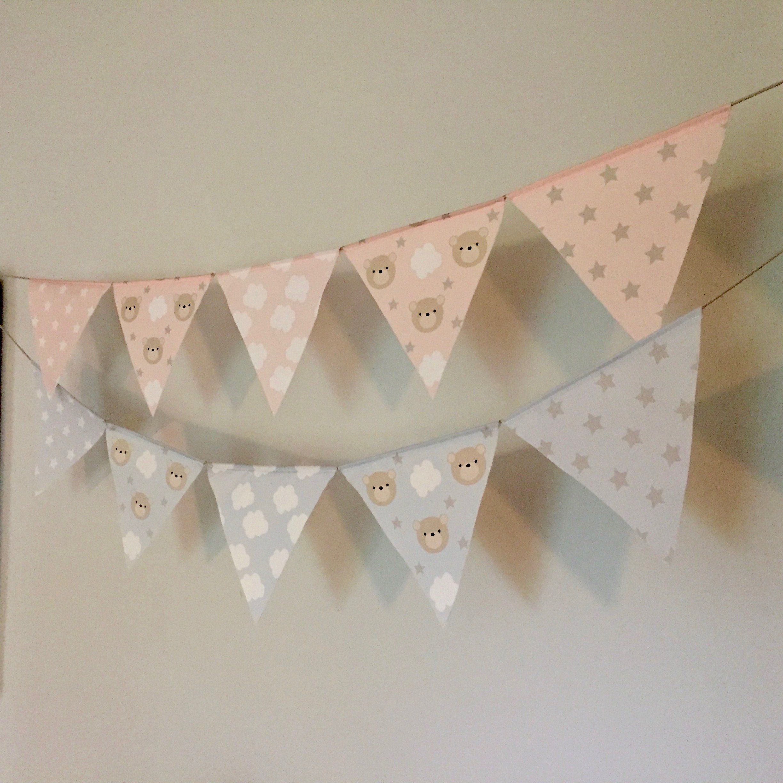 Fabric Bunting Flags Custom Nursery