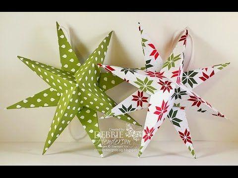 Decoraci n super f cil estrellas gigantes de papel - Decoracion navidad papel ...