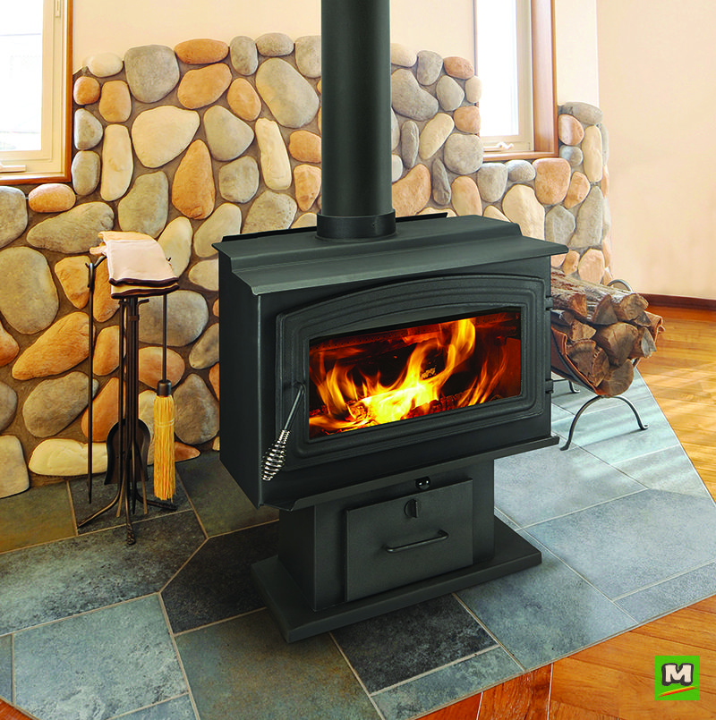 The Woodpro 2 0 Wood Stove Heats Up To 2 000 Square Feet Of Living Space This Stove Holds Up To 21 Long Logs And Has A Fir Wood Stove Wood Wood Burning Stove