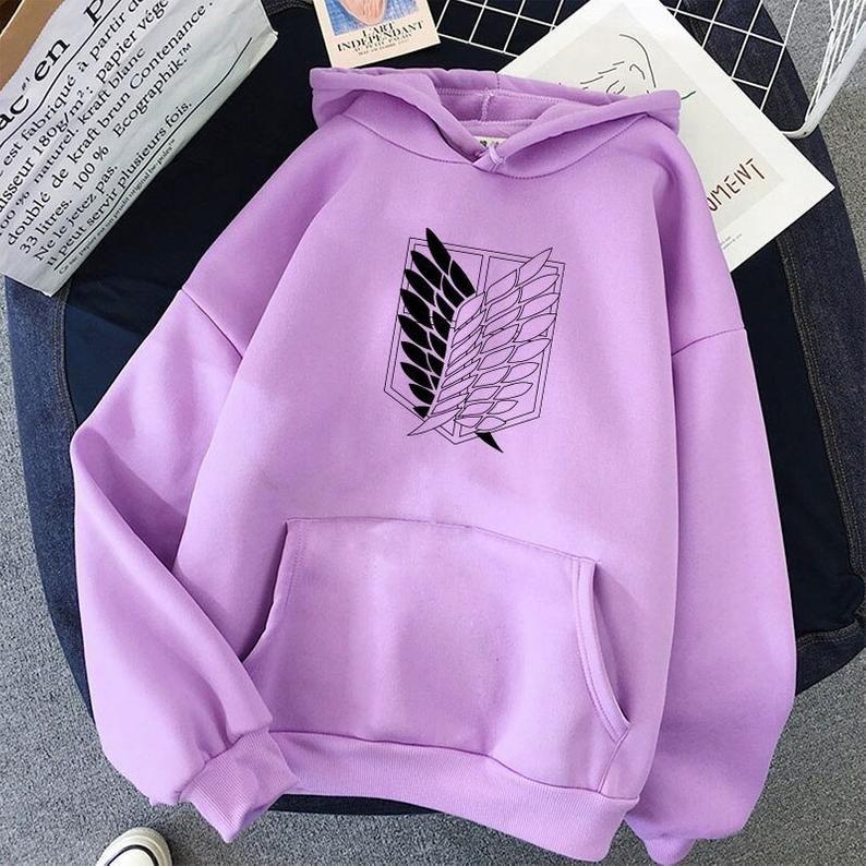 Attack on titan anime graphic unisex sweatshirt hoodies in