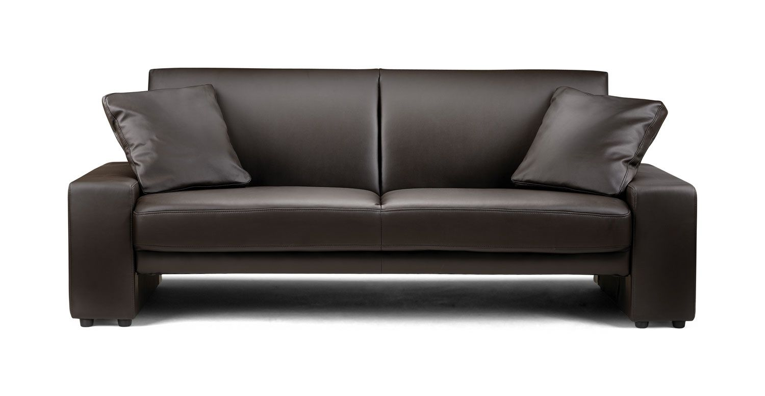 Supra Faux Leather Sofa Bed Brown Black Or Is A Upholstered Sofabed With Simple To Use 3 Position Mechanism Upright