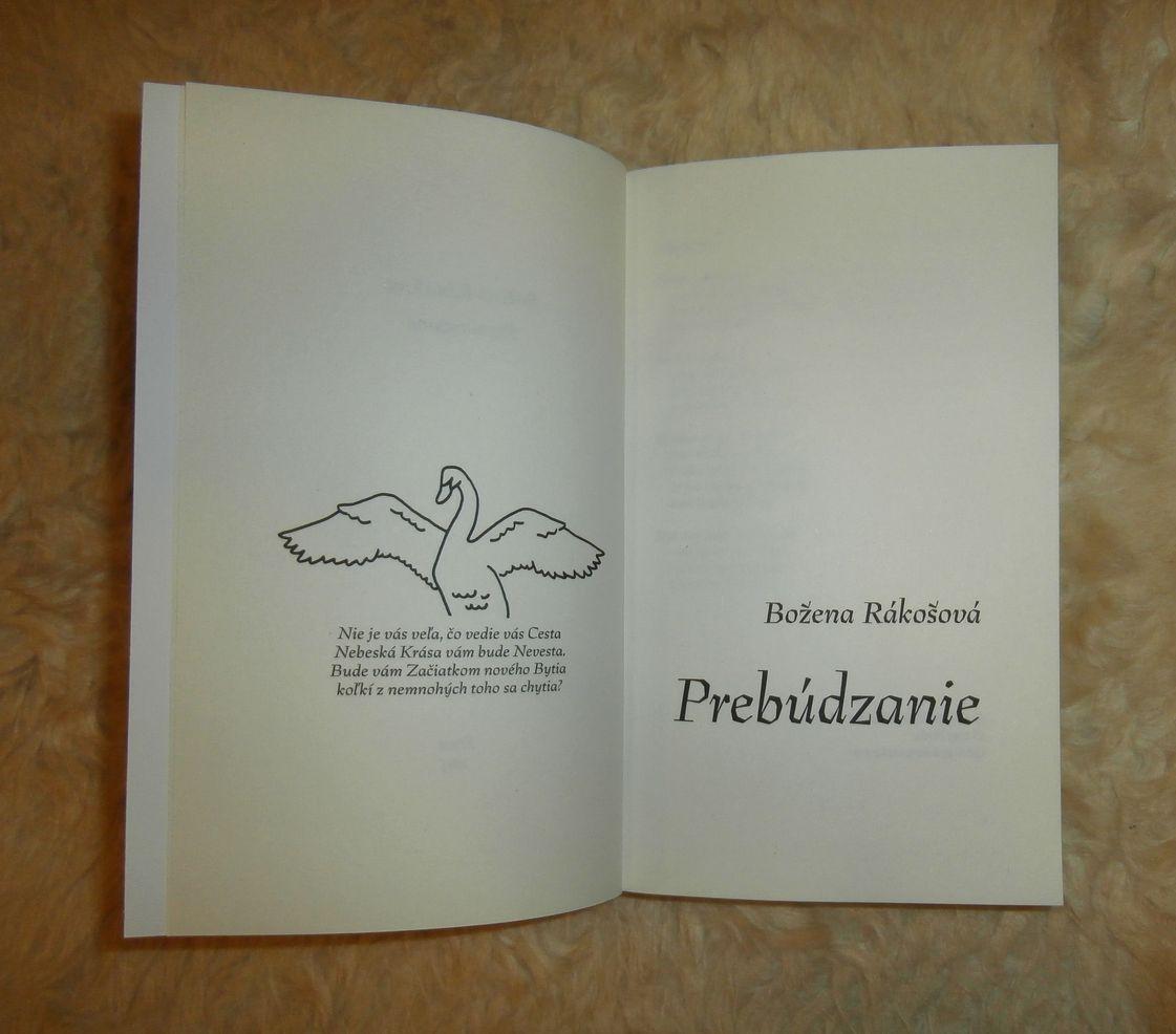 Božena Rákošová: Prebúdzanie (ilustrácia na frontispise Kamila Pastieriková, písmo na titule a obálke Preissig Antikva)