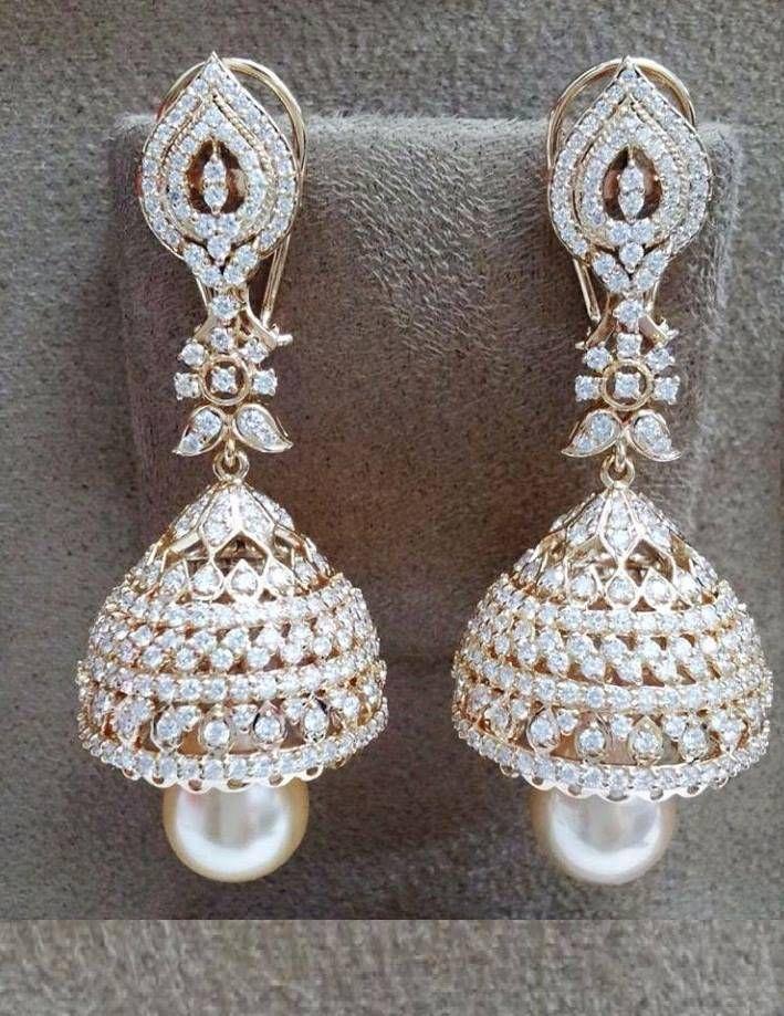 diamond jhumkas indian - photo #7