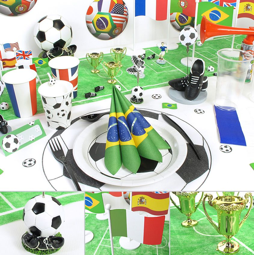 soutenez votre quipe de foot pr f r e avec cette table aux couleurs du mondial de football. Black Bedroom Furniture Sets. Home Design Ideas