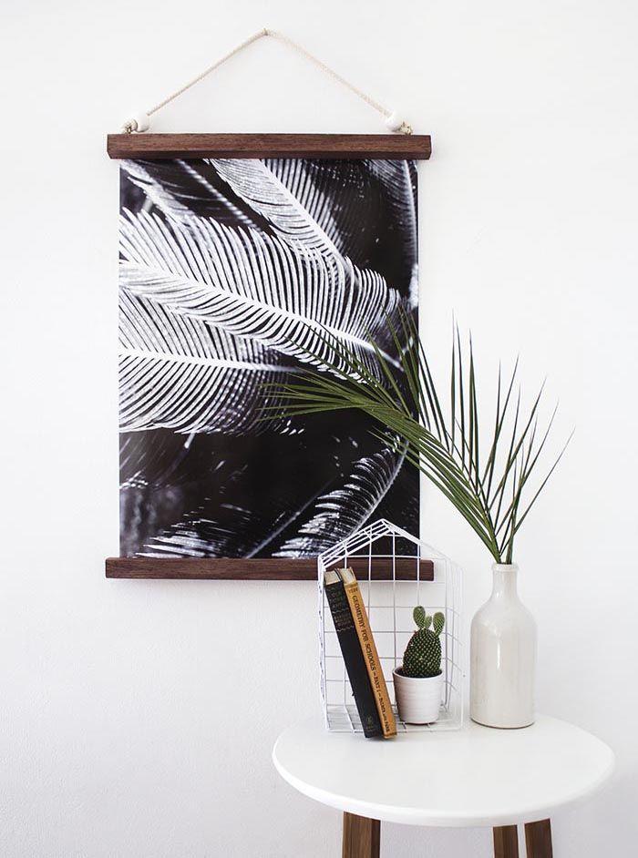 DIY Hanging Half Frame (Design*Sponge) | Pinterest | Hanging frames ...