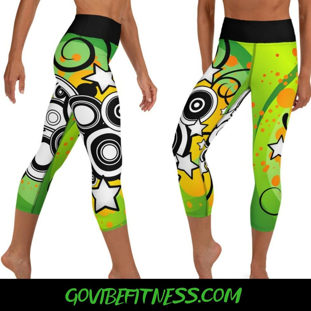 Fall in love with our Green Magic Fitness Capris! They're funky, fresh, and all things FUN! Not to m...