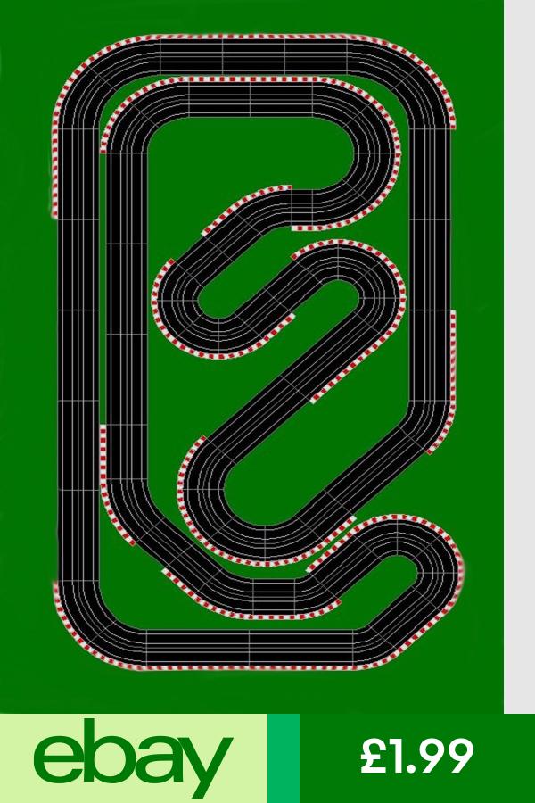 Race Track Car Formula One Wallpaper A4 Sized Edible Wafer Paper Icing Sheet Slot Car Tracks Slot Cars Slot Car Racing