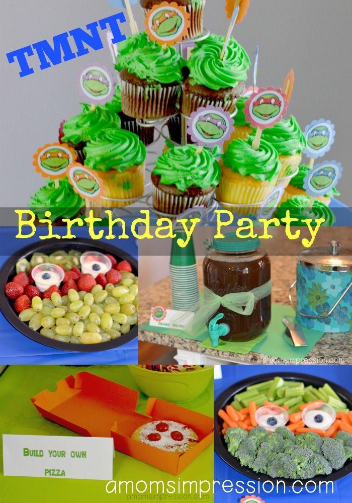 Teenage Mutant Ninja Turtles Birthday Party ~ Part 2 The Food | DIY ...