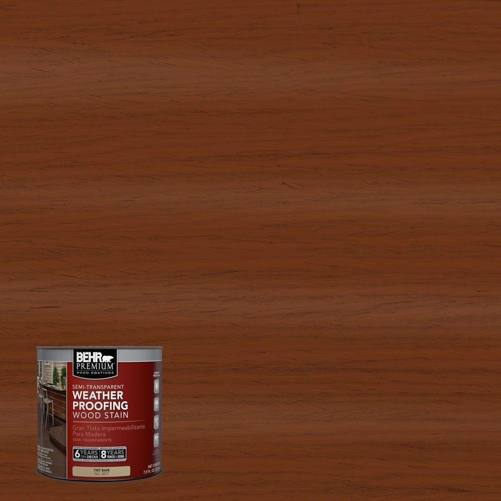 BEHR Premium 8 Oz ST130 California Rustic Semi Transparent Weatherproofing Wood Stain Sample
