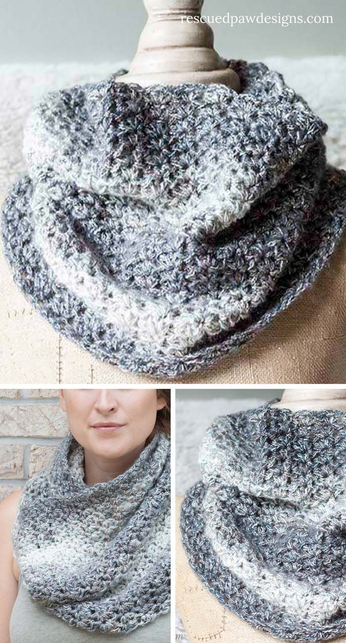 Free Shimmering Snow Cowl Crochet Pattern | Pinterest