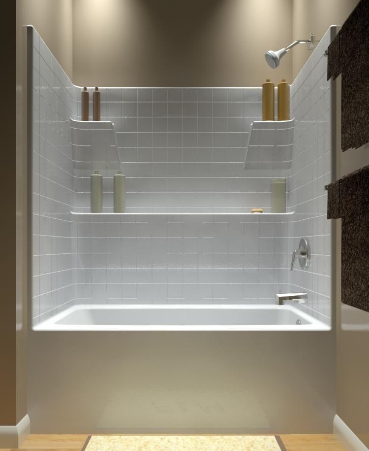 eingemauerte badewanne in einer nische und viel ablagefläche ... - Moderne Badewanne Eingemauert