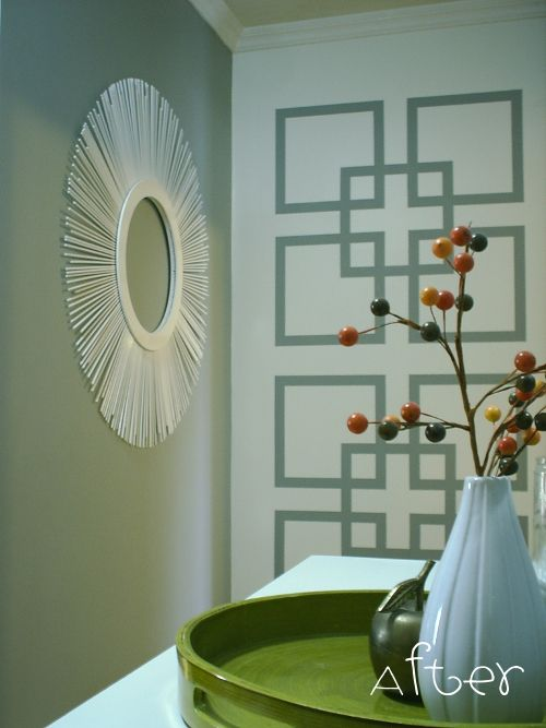have fun with painters tape make a statement - Paint Designs On Walls With Tape Ideas
