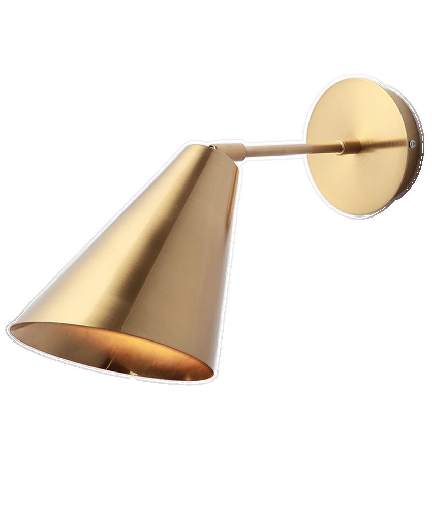Gatska Gold Wall Lamp With Swing Arm Plug In Pendant Light