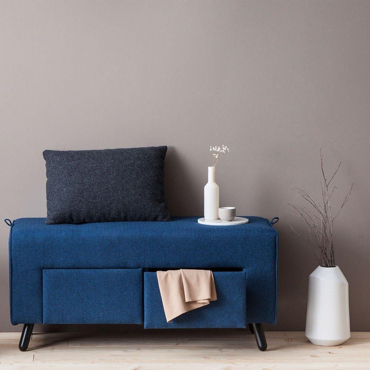 Sandra Bank - Blau | Swedish Living | Wohnzimmer | Pinterest | Banks ...