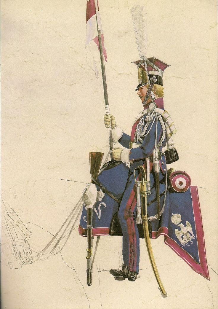 Michel Petard - Polish lancer of Napoleon's Imperial Guard .