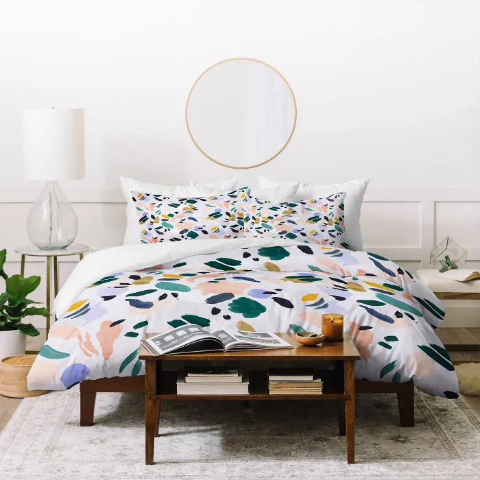 Marta Barragan Camarasa Terrazzo Brushstrokes Duvet Set Deny Designs In 2021 Duvet Cover Sets Duvet Covers Duvet Covers Twin