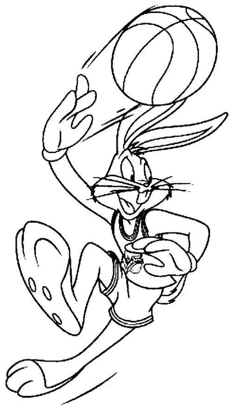 Bugs Bunny Space Jam Coloring Pages Coloring Pages For