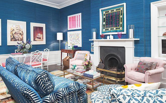 Livingroom Edinburgh | Gorgeous Blue Living Room In Jessica Buckley S Georgian Edinburgh