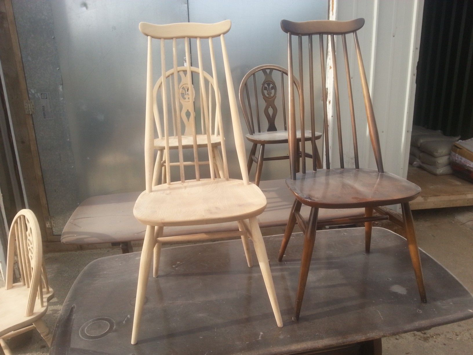 This Ercol Chair Has Been Stripped Using Soda Blasting
