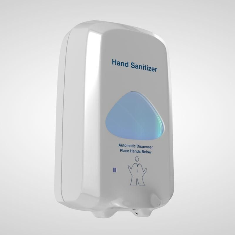 Hand Sanitizer Wall 3d Model Ad Sanitizer Hand Model Wall