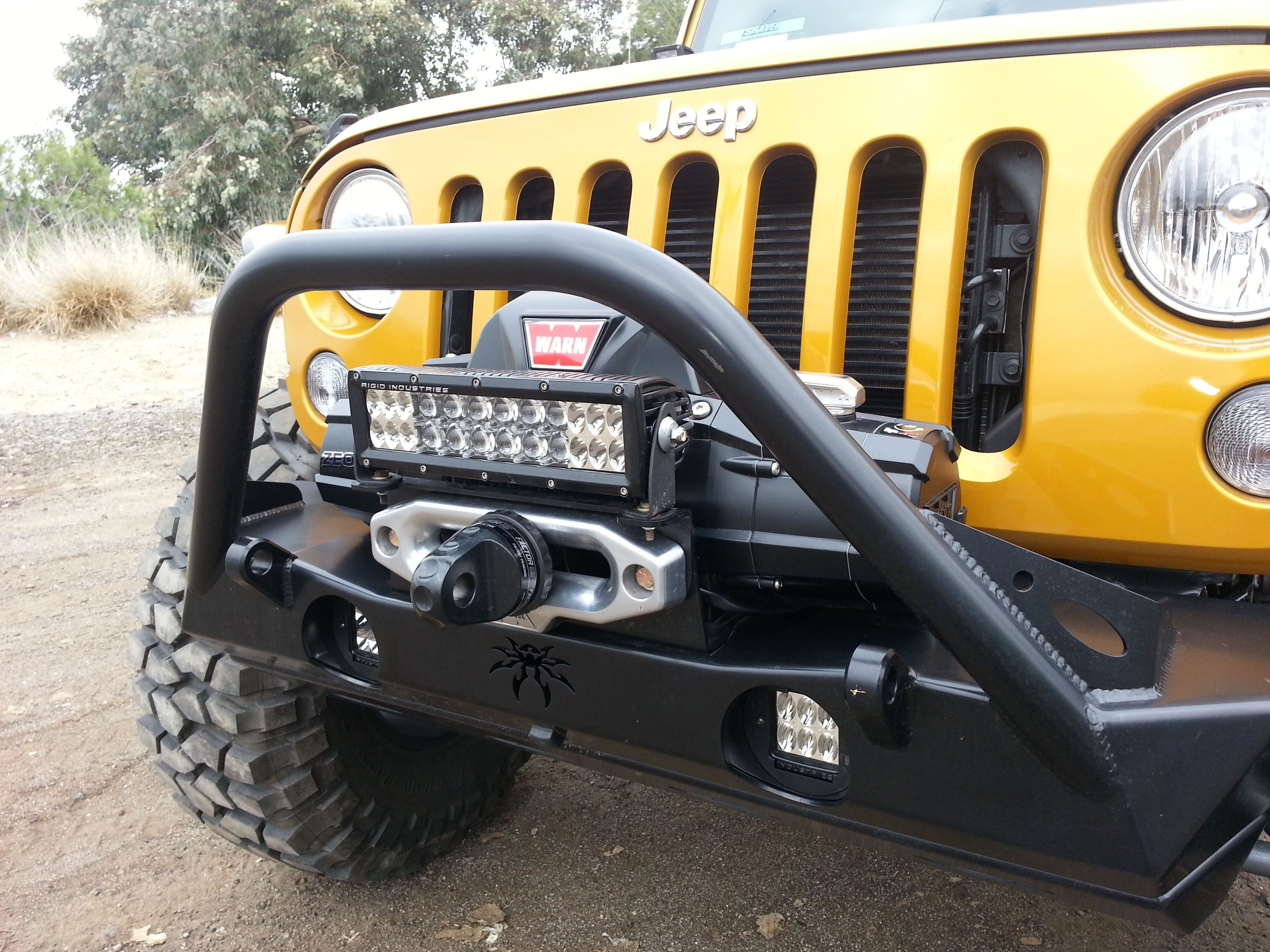 Jeep jk with poison spyder front bumper with a warn winch and mini jeep jk with poison spyder front bumper with a warn winch and mini light bar mozeypictures Images
