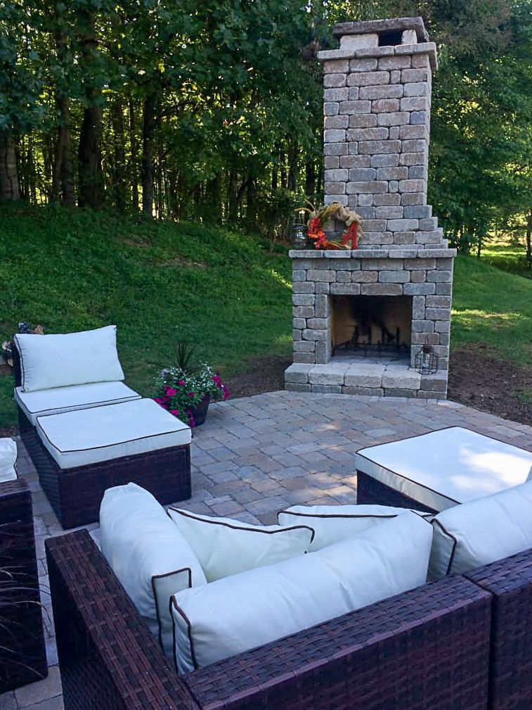 Diy Outdoor Fireplace Kit Fremont Makes Hardscaping Cheap And Easy In 2020 Outdoor Fireplace Kits Outdoor Fireplace Patio Diy Outdoor Fireplace