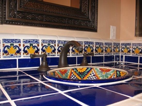 Mexican Bathroom Sinks for Sale Awesome 54 Best Talavera Tile and Mosaics  Images On Pinterest at