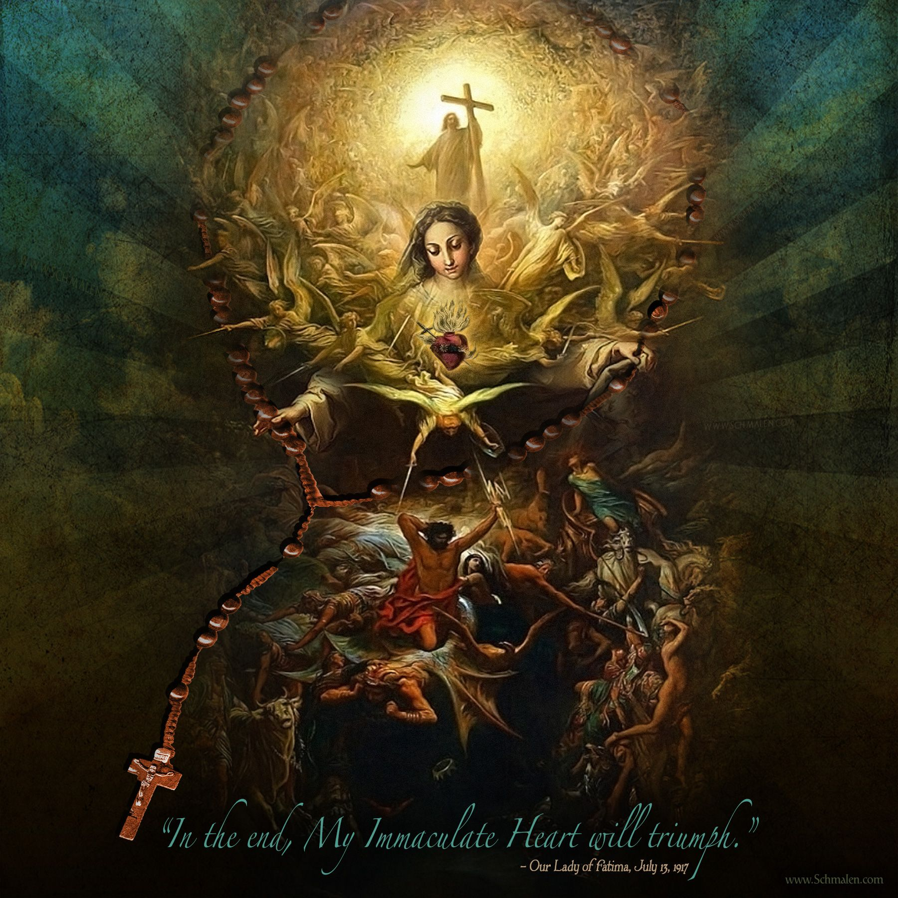 """in the end, my immaculate heart will triumph."""" our lady of fatima"""