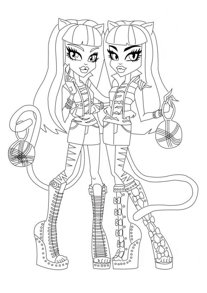 Free Printable Monster High Coloring Pages For Kids Coloring Books Coloring Pages Coloring Book Art