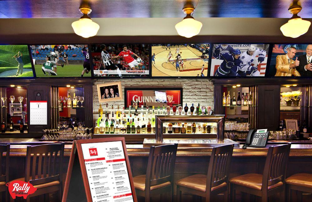 Rally Sportsbar + Smokehouse Smokehouse, Restaurant