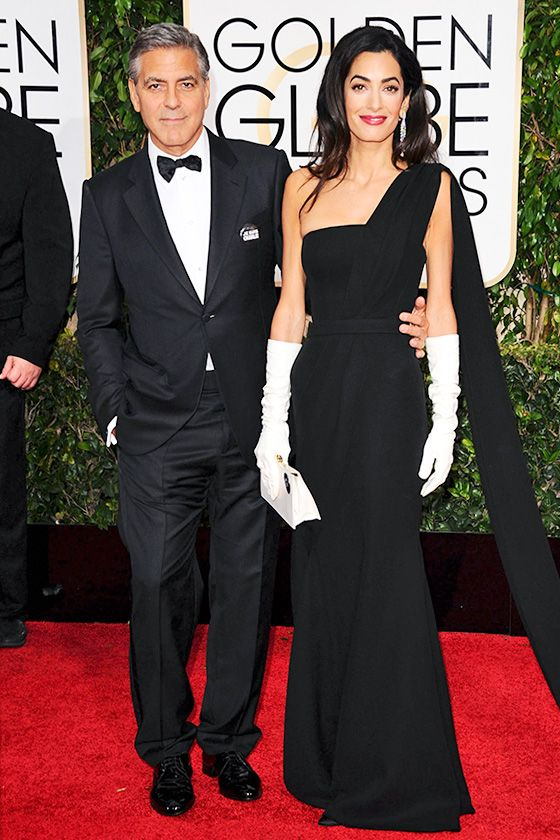 Hottest looks from the Golden Globes - George Clooney and Amal Clooney