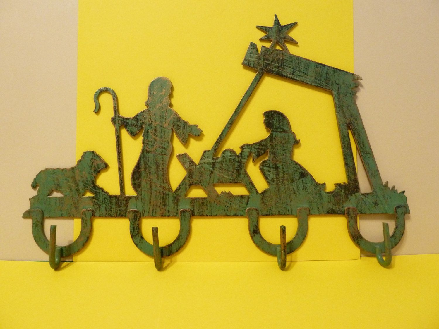 Nativity Silhouette, metal wall art with hooks, House of Lloyd by ...
