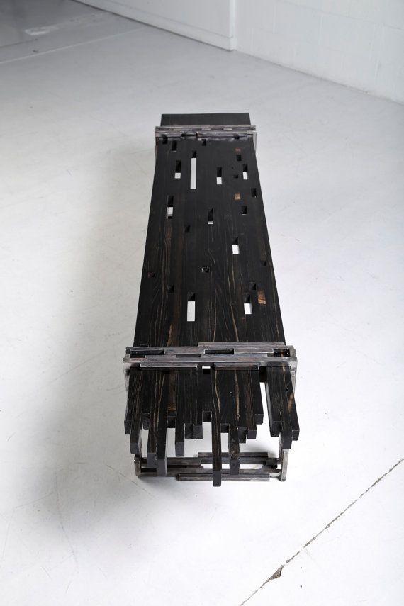 Elegant Industrial Modern Bench By AntonMakaDesigns On Etsy