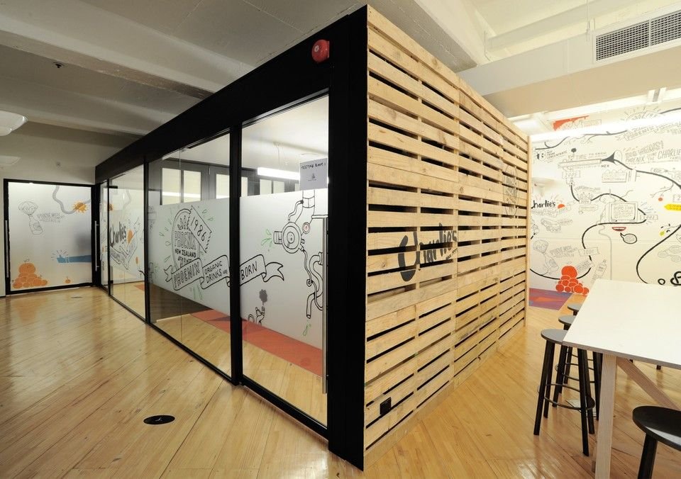 Spaceworks has designed a new office space for beverage firm charlies trading company in auckland new zealand
