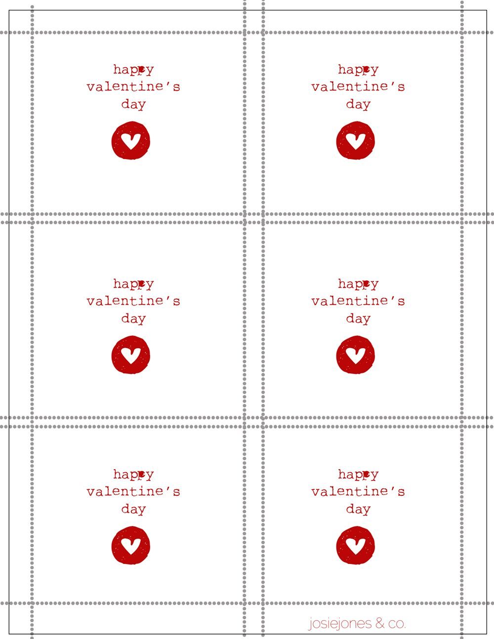 Cute Free Printable Valentines From Josiejones Valentine Card Template Valentines Day Card Templates Valentine Day Cards