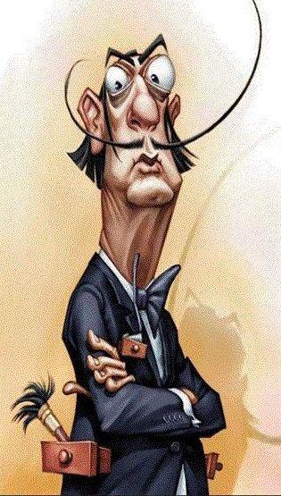 Salvador Dali - caricature.