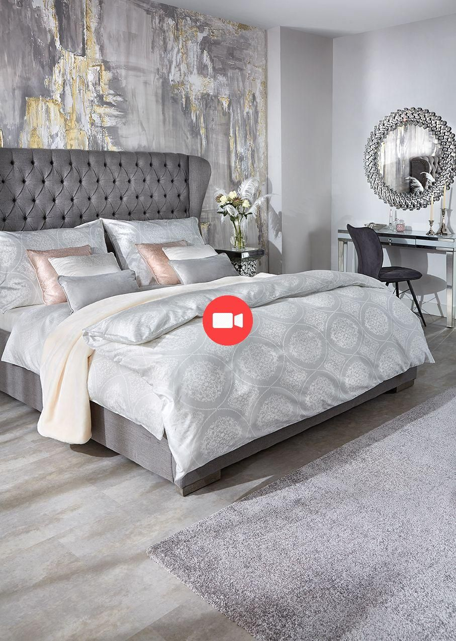 Lit Rembourre 180 200 Cm Gris Renovationdechambre Ideesdechambre Decoracion Dormitorio Matrimonio Ideas Decoracion Dormitorios Colores Para Dormitorio