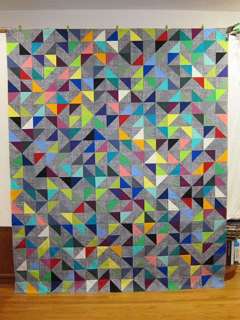 Random Vector Quilt Top Half Square Triangles Triangles And Squares