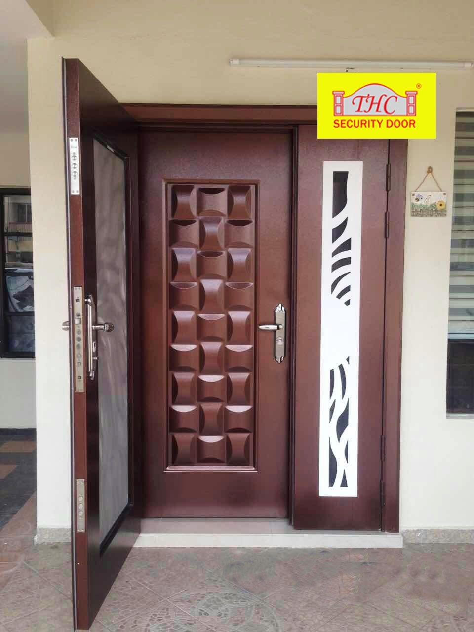security door, safety door, metal door, main door, art