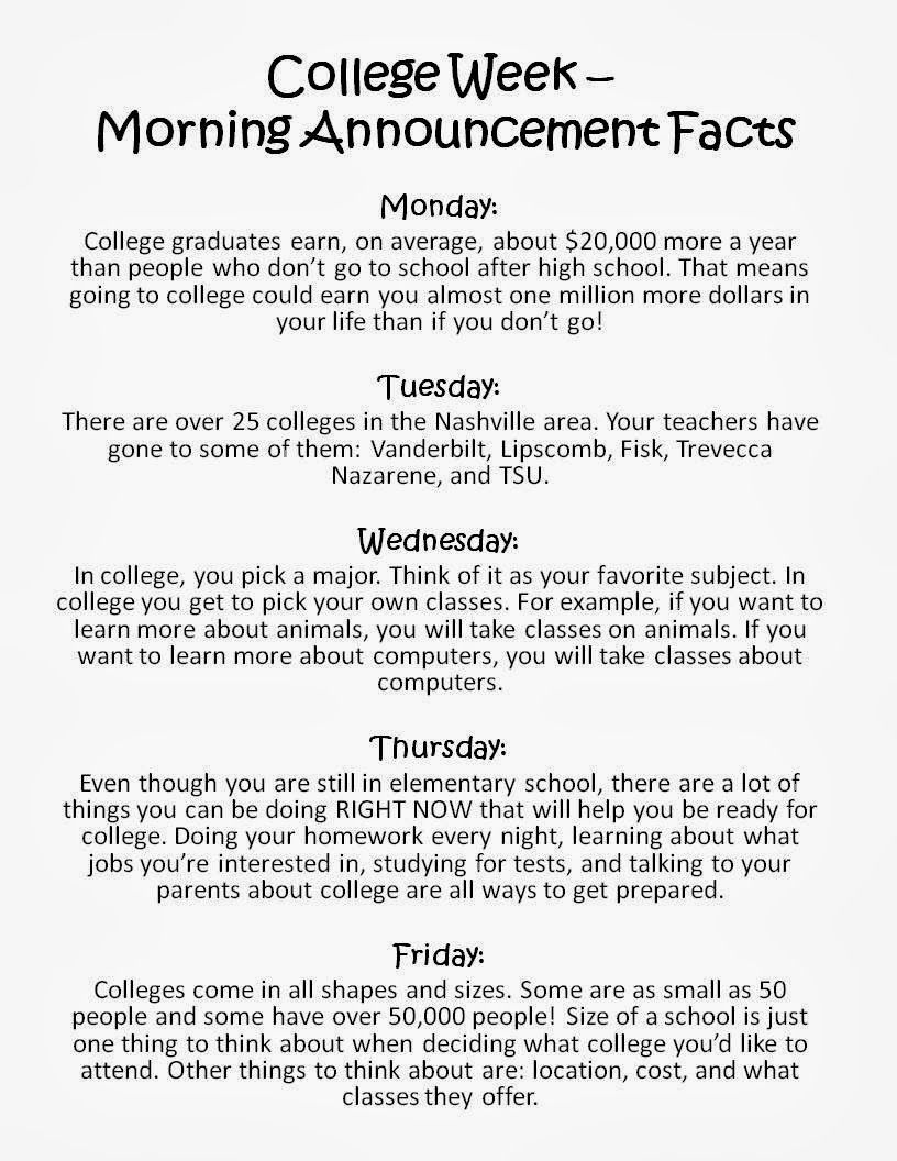 College Awareness Week Counseling Pinterest College