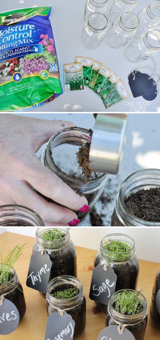 Mason Jar Herb Garden Mason Jar Herb