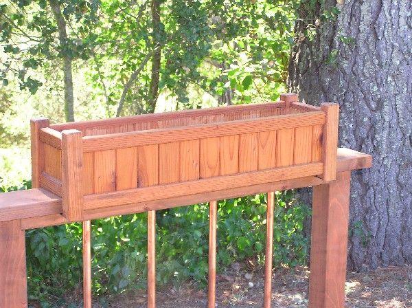 Deck Box Idea Deck Railing Planters Railing Planters Railing