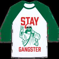Stay Gangster #jesusmeme #christmasshirt #holidayshirts #funnyholiday #holidayjokes #90s