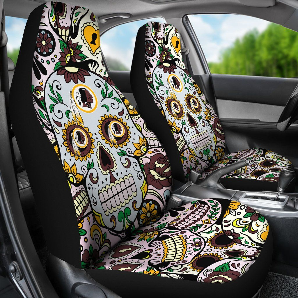 Wondrous Party Skull Washington Redskins Car Seat Covers Washington Squirreltailoven Fun Painted Chair Ideas Images Squirreltailovenorg