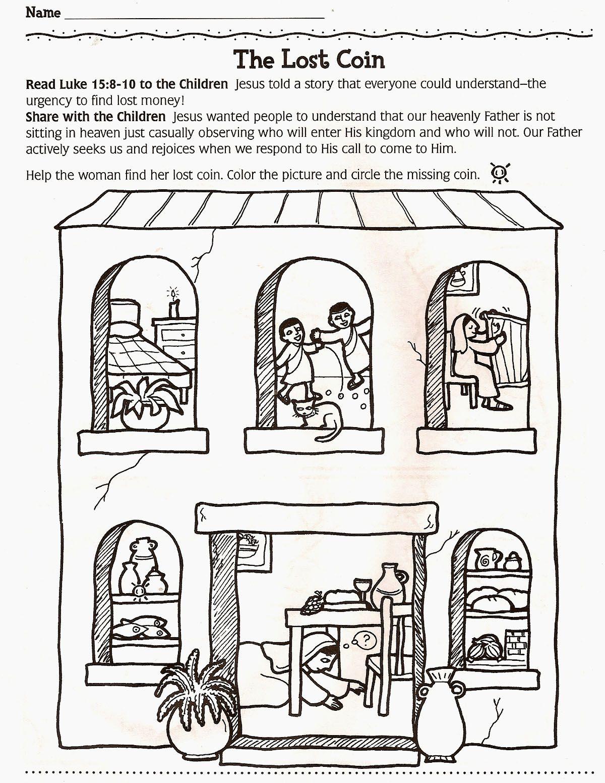 Leia Lucas 15 8 10 Ajude A Mulher A Encontrar A Moeda Perdida Pinte A Figura E Circule A Moeda